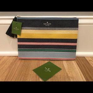 🎀NWT🎀 Kate Spade Stripe large tassel pouch